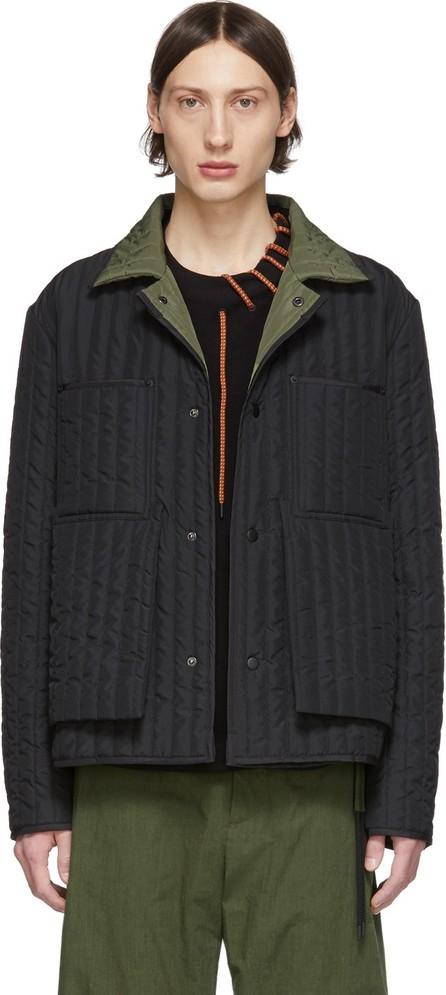 Craig Green SSENSE Exclusive Black & Green Quilted Worker Jacket