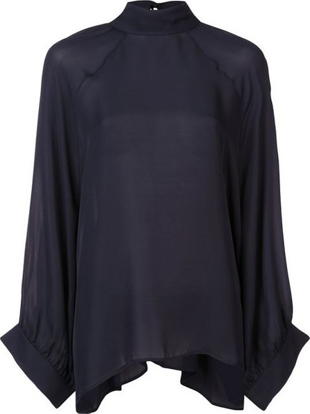 Nili Lotan Navy Wide Sleeved Blouse