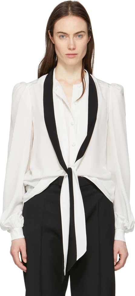 Givenchy Off-White & Black Tie Shirt