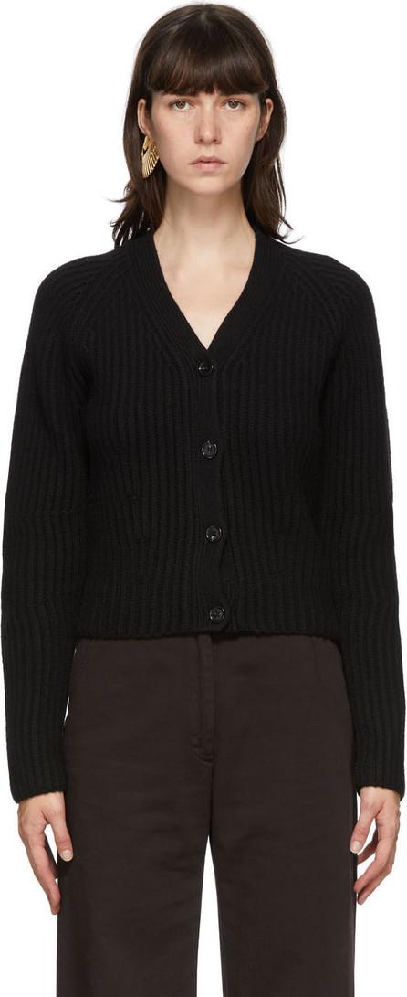 Acne Studios Black Ribbed Wool Cardigan