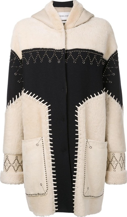 Prabal Gurung studded shearling coat