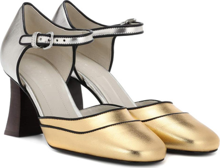 Marni Metallic leather pumps