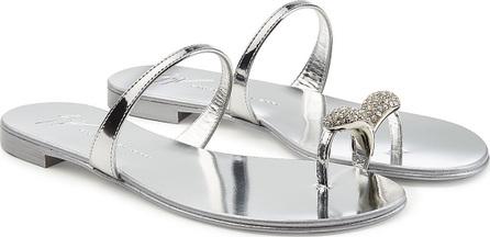 Giuseppe Zanotti Embellished Leather Sandals