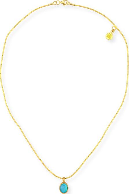 GURHAN Small Amulet Hue Opal Pendant Necklace