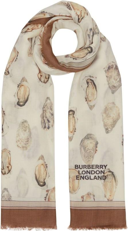 Burberry London England Oyster print scarf