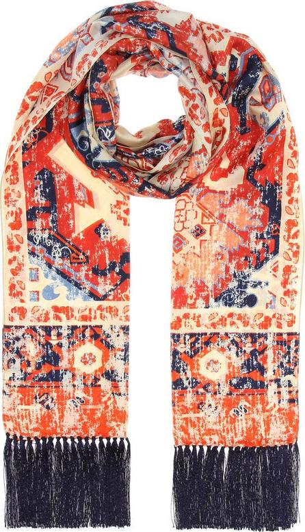 Acne Studios Printed silk scarf