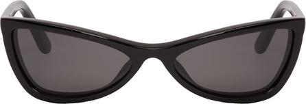 Balenciaga Black Thin Cat-Eye Sunglasses