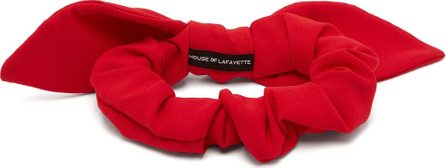 House of Lafayette Bow-embellished silk hair tie