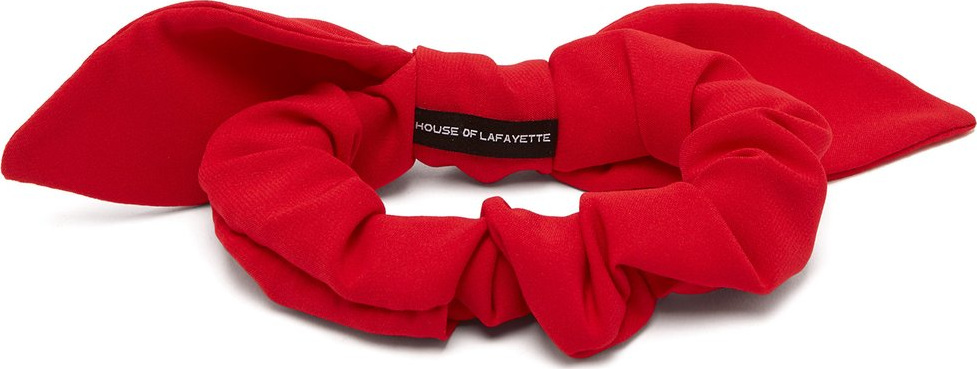 House of Lafayette - Bow-embellished silk hair tie