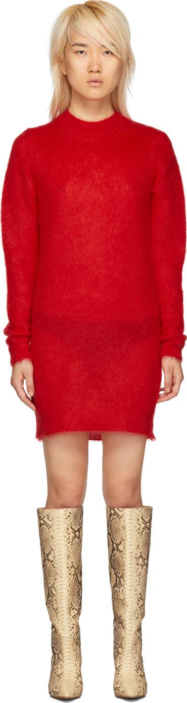 Alyx Red Mohair Stevie Dress