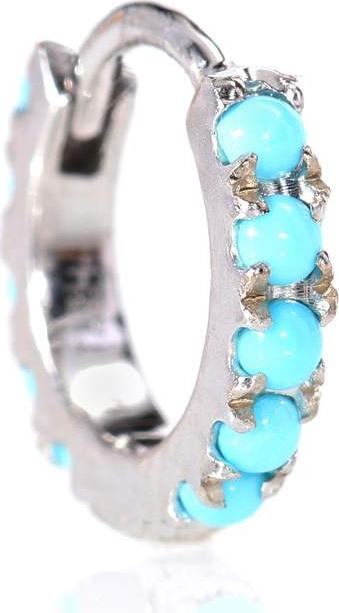 Maria Tash Turquoise Eternity 14kt white gold earring
