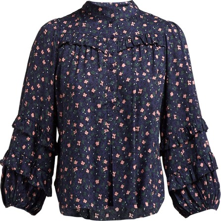 APIECE APART Bravissima floral-print ruffled blouse