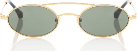 Alessandra Rich X Linda Farrow oval sunglasses