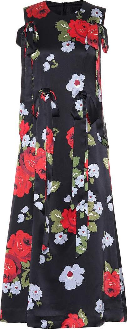 Simone Rocha Floral-printed silk midi dress