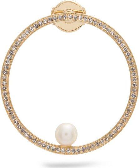 Anissa Kermiche Diamond, pearl & yellow-gold single earring