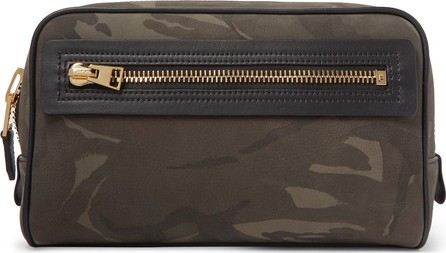 TOM FORD Camouflage-Print Leather Wash Bag