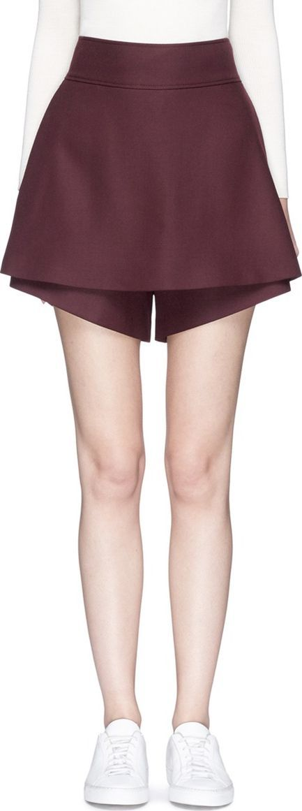 Stella McCartney High waist wool skorts