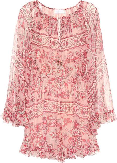 Zimmermann Castile floral silk playsuit