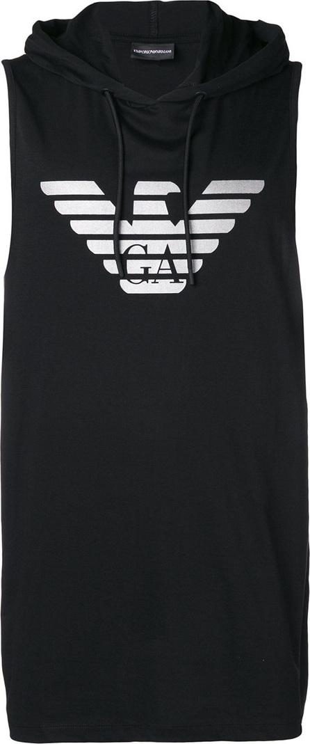 Emporio Armani Sleeveless logo print hoodie