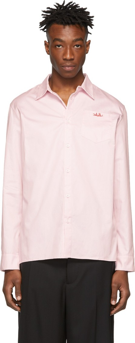Anton Belinskiy Pink Logo Embroidered Shirt