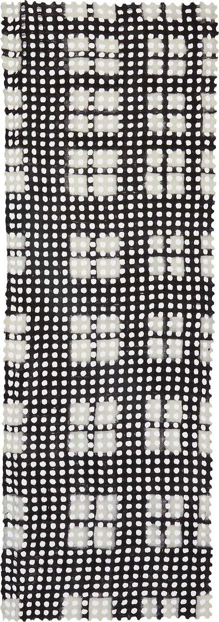 Faliero Sarti 'Silla' cutout circle check virgin wool blend scarf