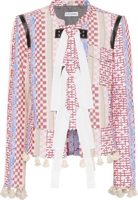Altuzarra Avenue leather-trimmed cotton jacket