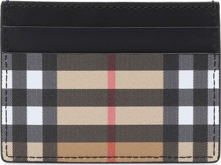 Burberry London England Check leather card holder