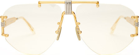 Celine Square aviator-frame glasses