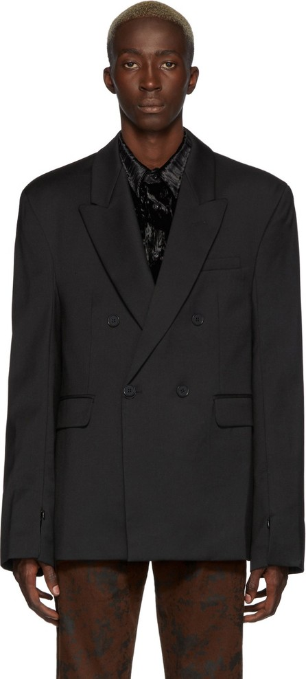 Cmmn Swdn Black Double-Breasted Blazer
