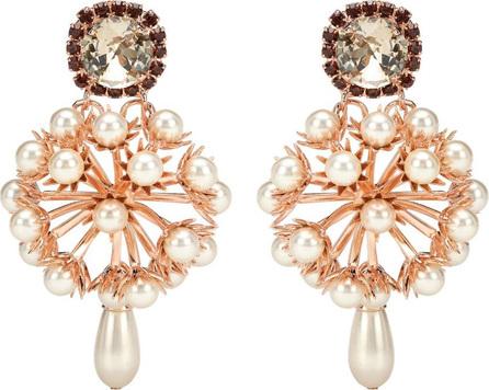 Erdem Cluster drop earrings