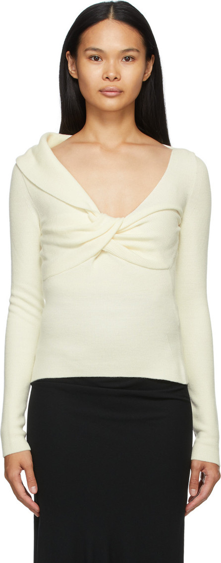 Alexander McQueen Off-White Wool Twisted Sweater