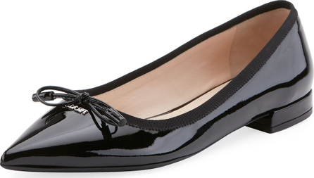 Prada Patent Leather Ballerina Flat