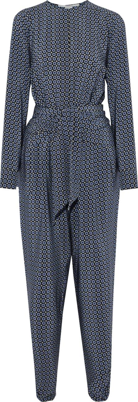 Stella McCartney Tie-front printed silk jumpsuit