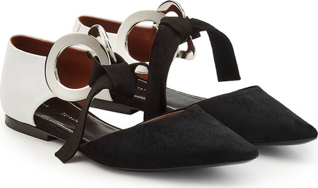Proenza Schouler Ribbon Tie Flats with Suede and Leather