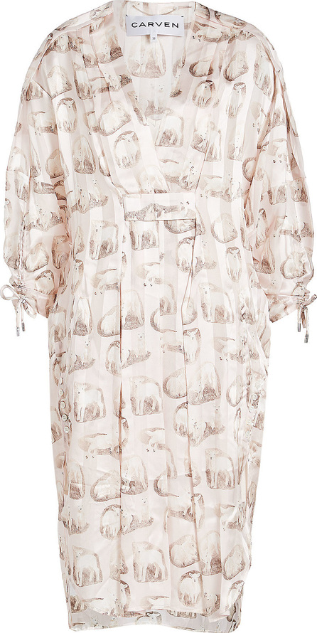 Carven Printed Silk Tunic Dress
