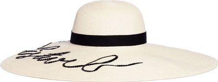 Eugenia Kim 'Sunny' sequin slogan straw sun hat
