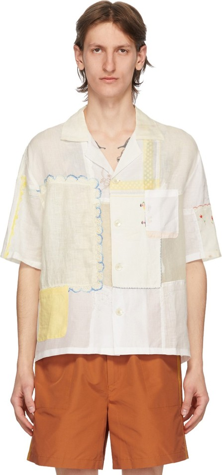 Bode White One-Of-A-Kind Handkerchief Patchwork Shirt