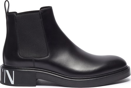 Valentino Logo print leather Chelsea boots