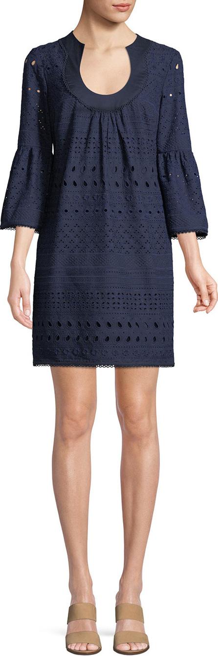 Trina Turk Bonita Cotton Mini Dress w/ Eyelets