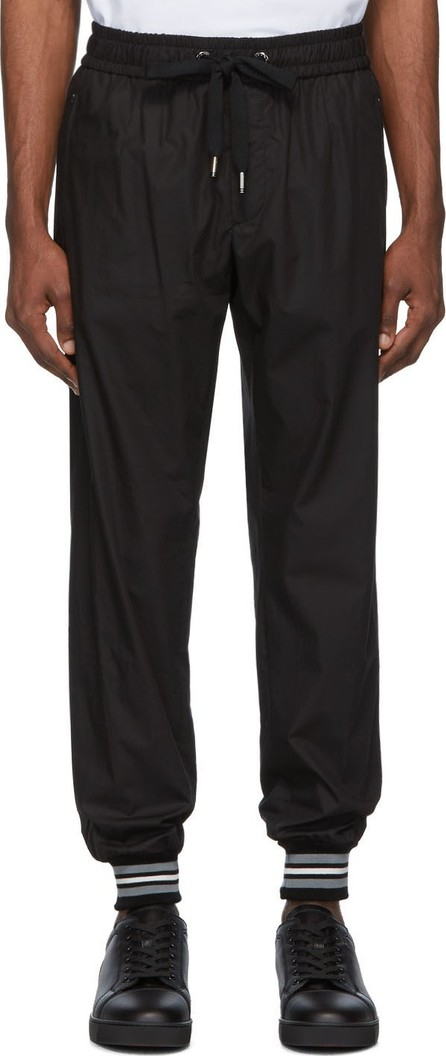 Dolce & Gabbana Black Cotton Lounge Pants