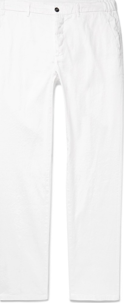 Altea Dumbo Linen and Cotton-Blend Drill Drawstring Trousers