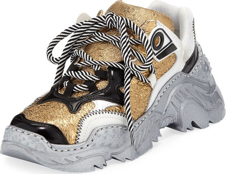 Nº21 Metallic Lace-Up Runner Sneakers