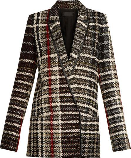 Haider Ackermann Renior peak-lapel tweed blazer