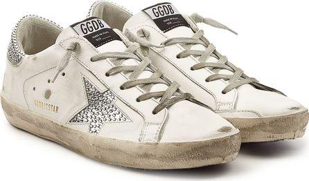 Golden Goose Deluxe Brand Super Star Swarovski Leather Sneakers