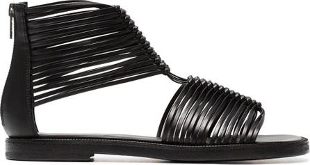 Ann Demeulemeester Black 20 multi strap leather sandals