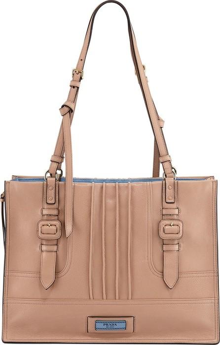 Prada Etiquette Large Glace Calf Shoulder Bag