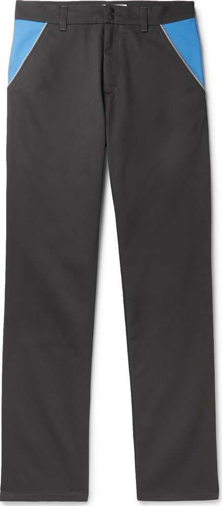 Affix Colour-Block Cotton-Blend Twill Trousers