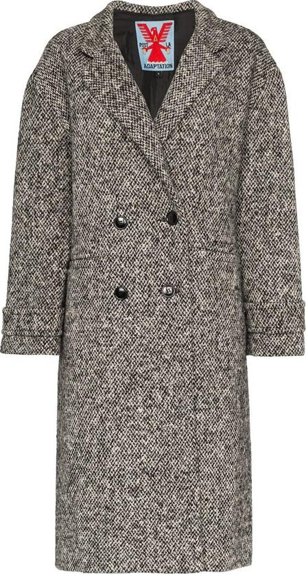 Adaptation Double breasted tweed wool coat