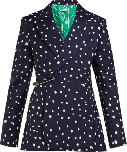Charles Jeffrey Loverboy Polka dot-print safety-pin cotton-twill blazer