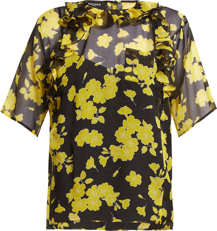 ROCHAS Floral-print silk-chiffon blouse